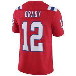 NEW NFL Men's 12# tom brady Nike Red jersey